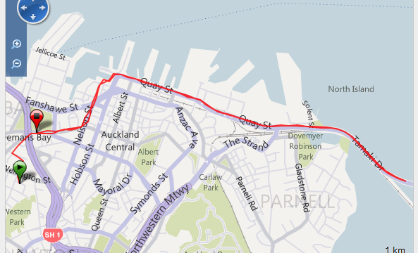 Corriendo en Auckland Ruta - New Zealand - Vuelta al Mundo