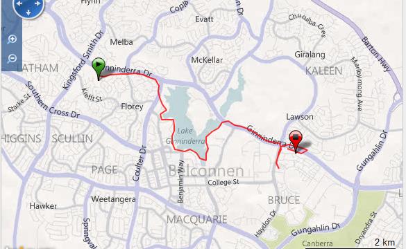 Corriendo en Canberra Ruta - Australia - Vuelta al Mundo