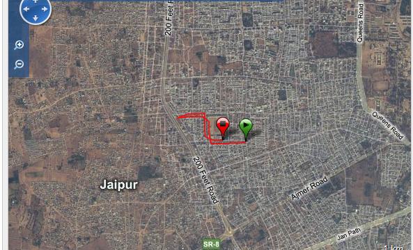 Corriendo en Jaipur Ruta - India - Vuelta al Mundo