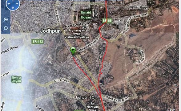 Corriendo en Jodhpur Ruta - India - Vuelta al Mundo