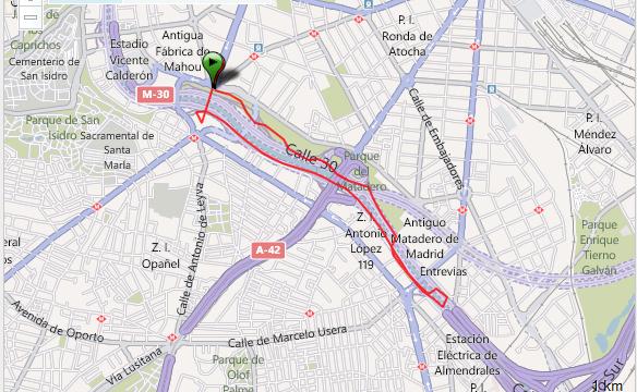 Corriendo en Madrid Rio Ruta - España - Vuelta al Mundo