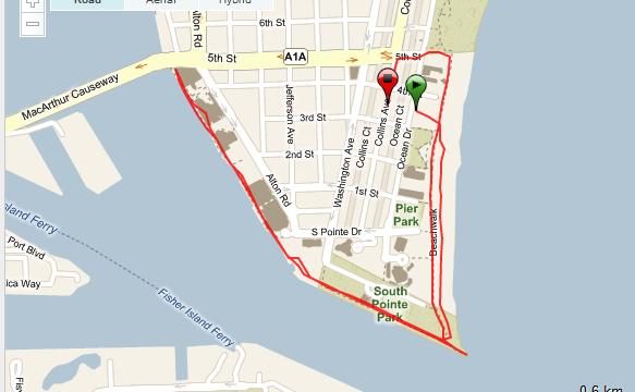 Corriendo en Miami Ruta - USA - Vuelta al Mundo
