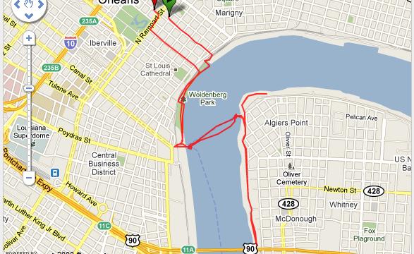 Corriendo en New Orleans Ruta - USA - Vuelta al Mundo