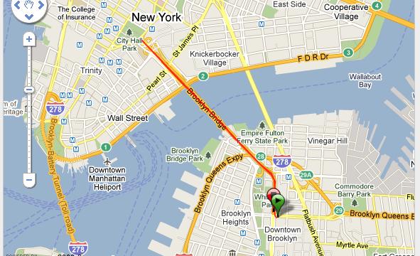 Corriendo en New York City Brooklyn Bridge Ruta - USA - Vuelta al Mundo
