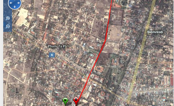 Corriendo en Siem Reap Ruta - Cambodia - Vuelta al Mundo