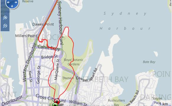 Corriendo en Sydney Ruta - Australia - Vuelta al Mundo