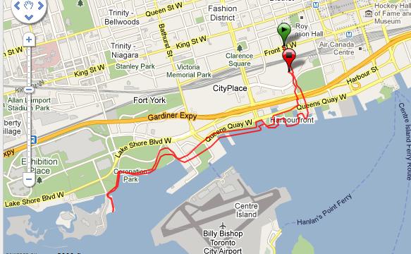 Corriendo en Toronto Ruta - Canada - Vuelta al Mundo