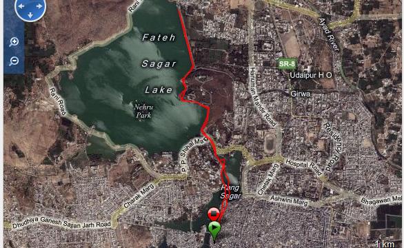 Corriendo en Udaipur Ruta - India - Vuelta al Mundo